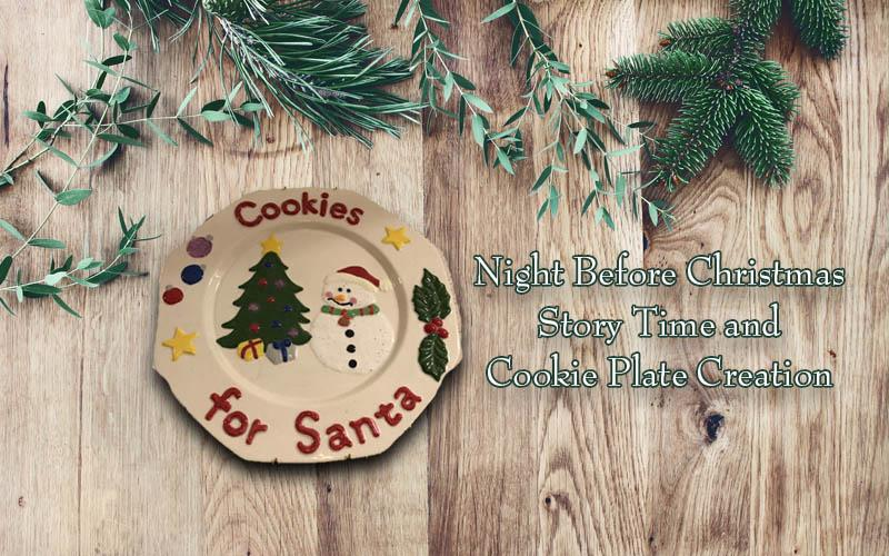 Fish Tales Pottery And Pets - Paint Me a Story Time - Christmas Cookie Plates - $10 for $5