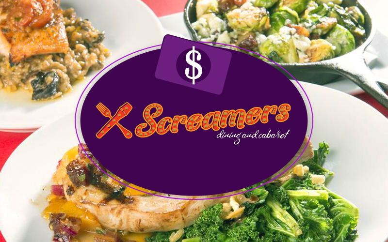 Screamers - $50 Gift Voucher for $25 from Screamers Dining and Cabaret