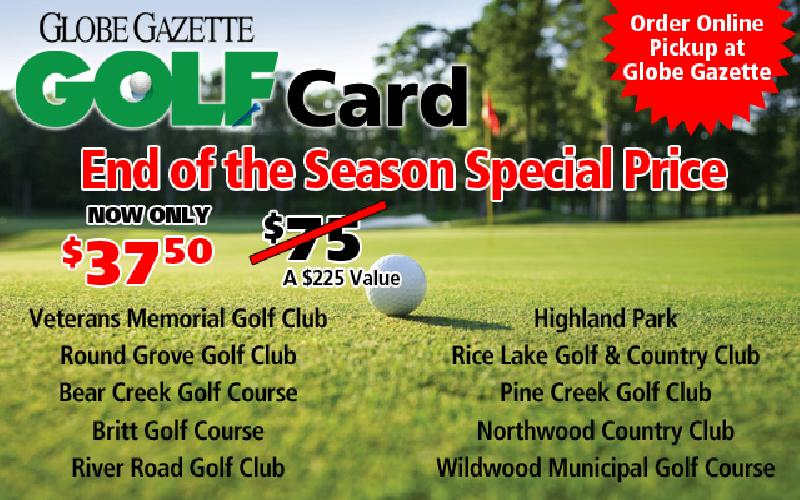 Globe Gazette Golf Card - 2019 Globe Gazette Golf Card