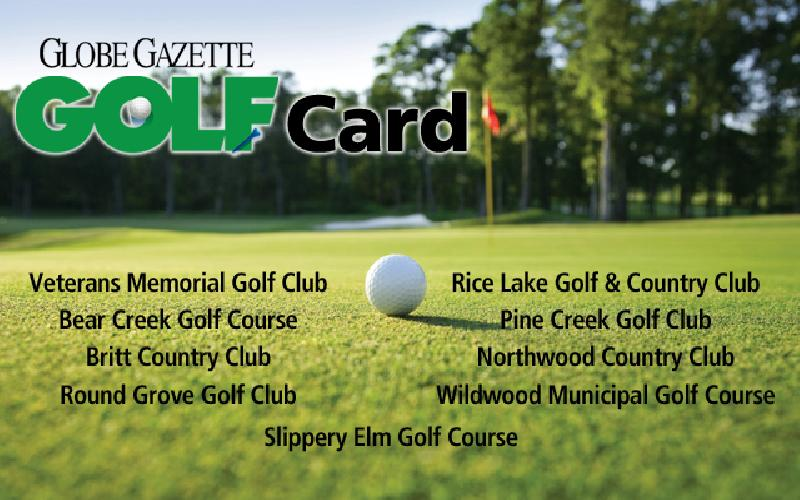 Globe Gazette Golf Card - 2020 Globe Gazette Golf Card
