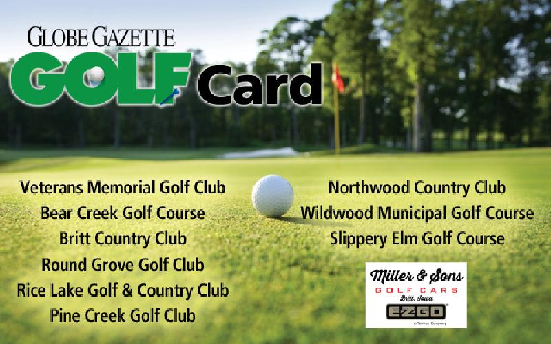 Globe Gazette Golf Card - 2021 Globe Gazette Golf Card