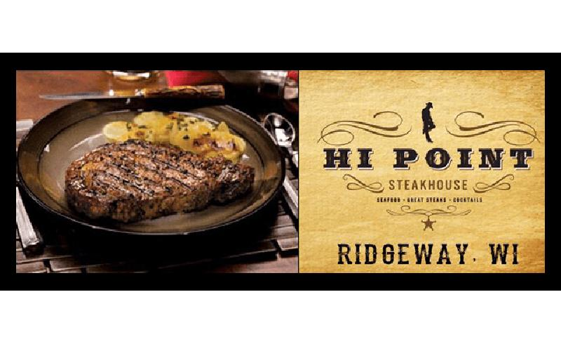 Hi Point Steakhouse - $30 Gift Card for $15 towards food and drinks!