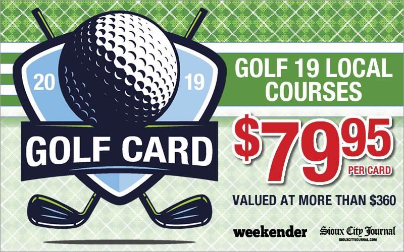 Sioux City Journal Communications - 2019 Best of Siouxland Golf Card - Back by popular demand!