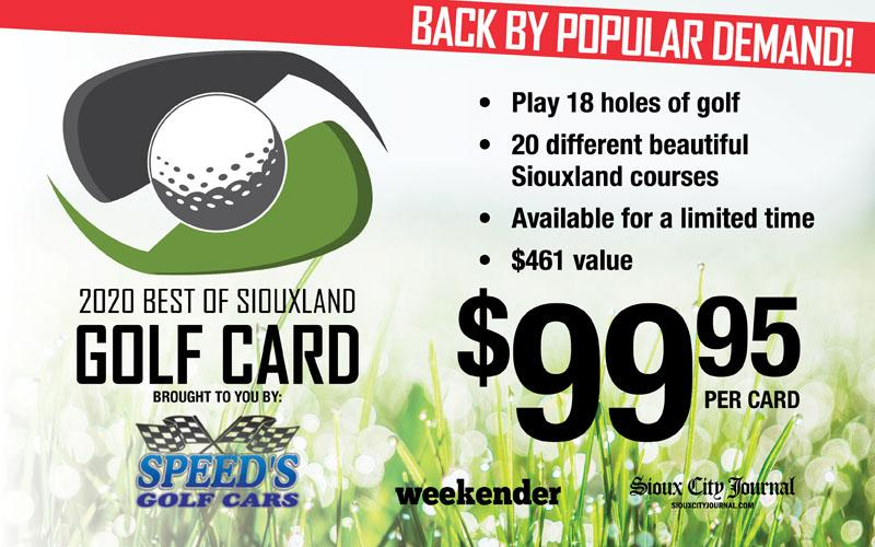Sioux City Journal Communications - 2020 Best of Siouxland Golf Card