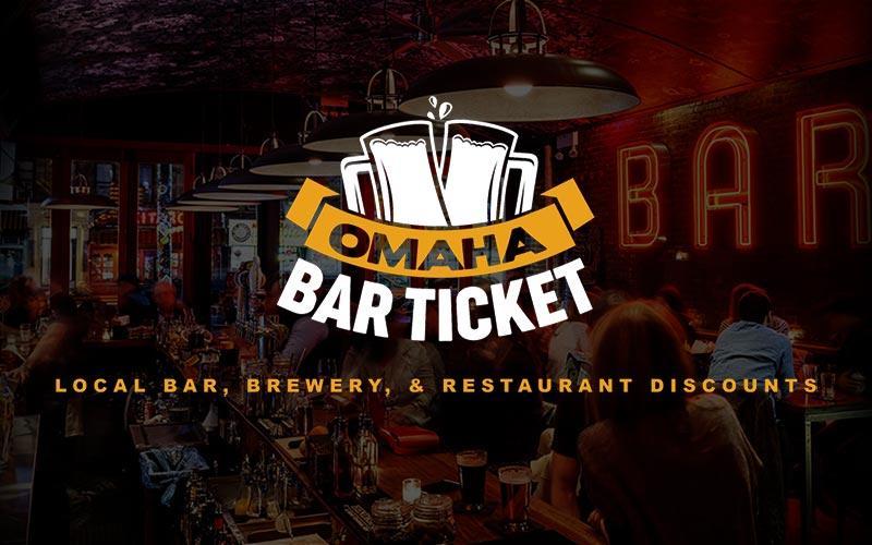 Omaha Bar Ticket - Get 4 months of Omaha Bar Ticket 1/2 off - Over 50 bar discounts + a free $10 gift card each month!