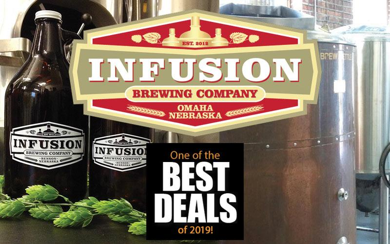 Infusion Brewing Co. - $20 of Food and Drinks for $10 at either Infusion Brewing locations