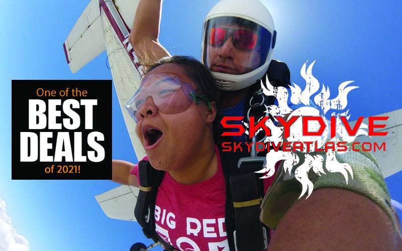 Skydive Atlas / Nebraska Skydiving School - Tandem Skydive for HALF PRICE