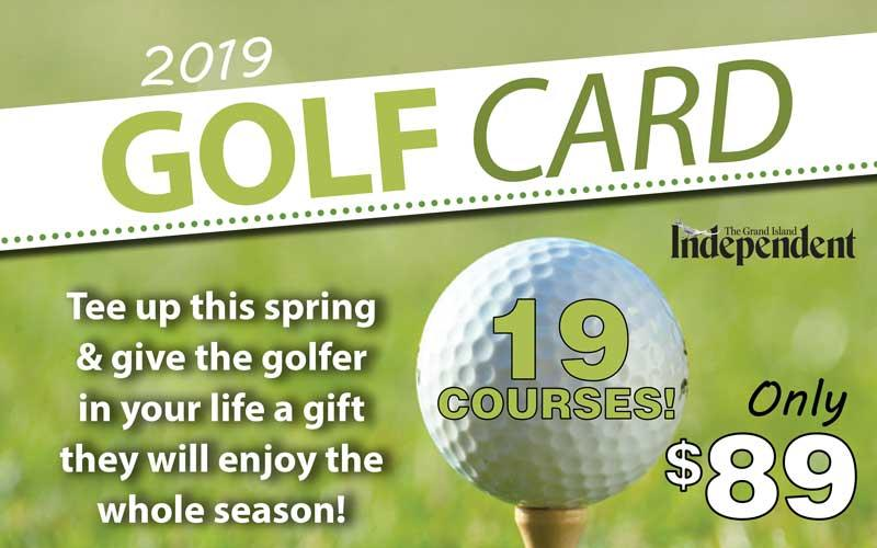 Grand Island Independent - 2019 Independent Golf Card- On Sale Now!