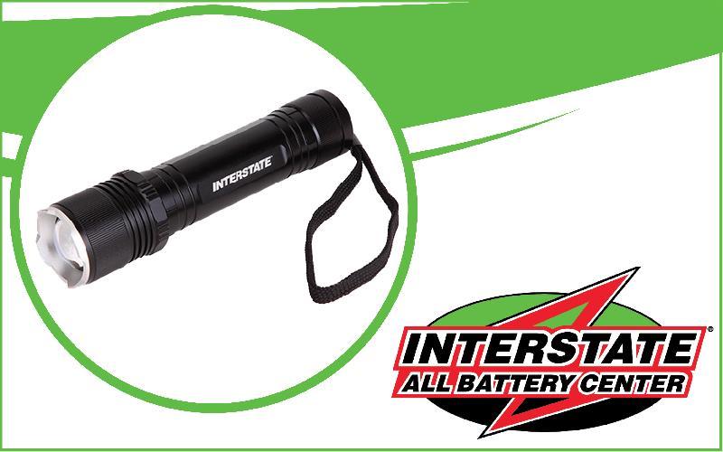 Interstate All Battery Center - 1500 Lumen IPX7 Waterproof Flashlight for $25