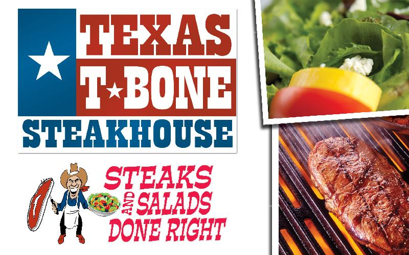 Texas T-Bone Steakhouse - $20.00 voucher for $10.00 to Texas T-Bone Steakhouse. Sunday - Thursday Only!