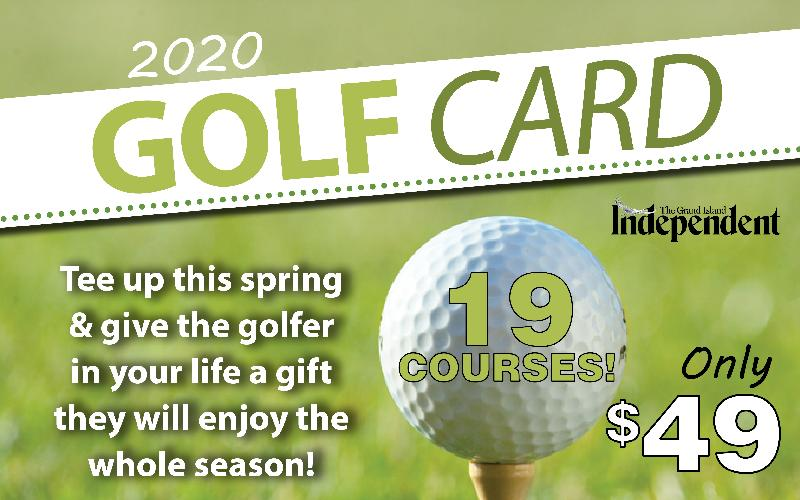 Grand Island Independent - 2020 Independent Golf Card- On Sale Now!