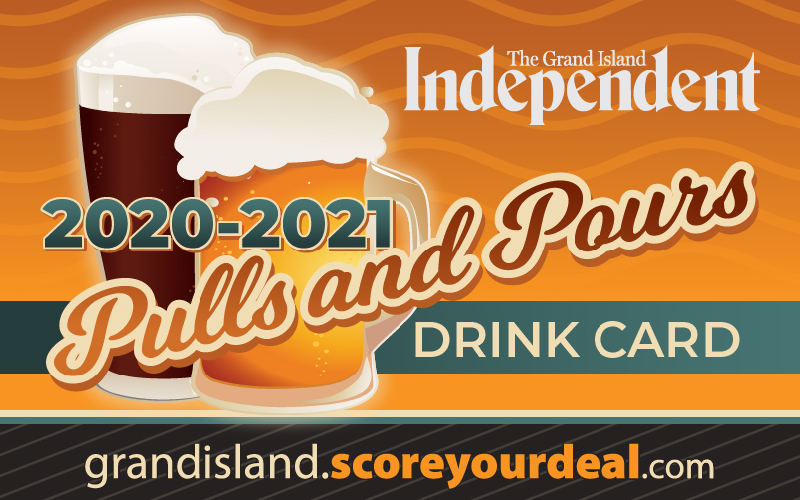 Grand Island Independent - Pulls & Pours Drink Card