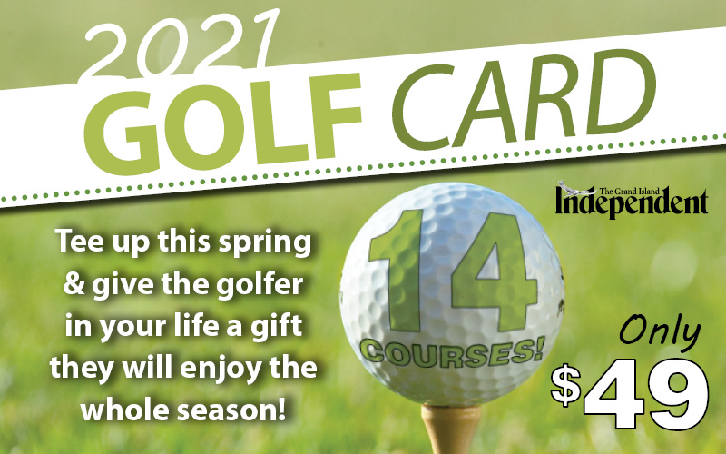 Grand Island Independent - 2021 Independent Golf Card- On Sale Now!