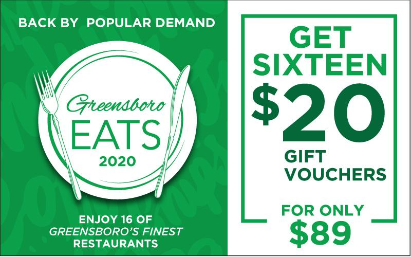Greensboro Eats - GSO EATS - Get $300 in Restaurant Gift Certificates for $89