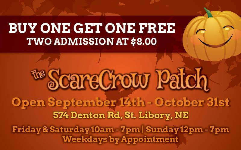 The Scarecrow Patch - Buy One Admission ($8) - Get One Free