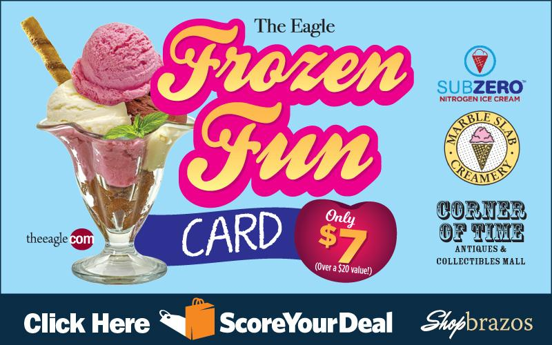 The Eagle - Shopbrazos Score Your Deal - Try six different frozen treats from six different great local restaurants for Only $7