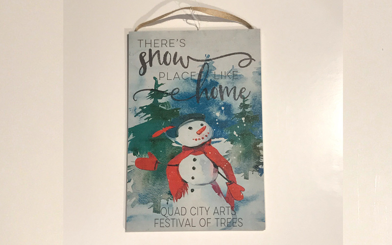 Quad City Arts | Festival Of Trees - There's Snow Place Like Home Wall Hanging